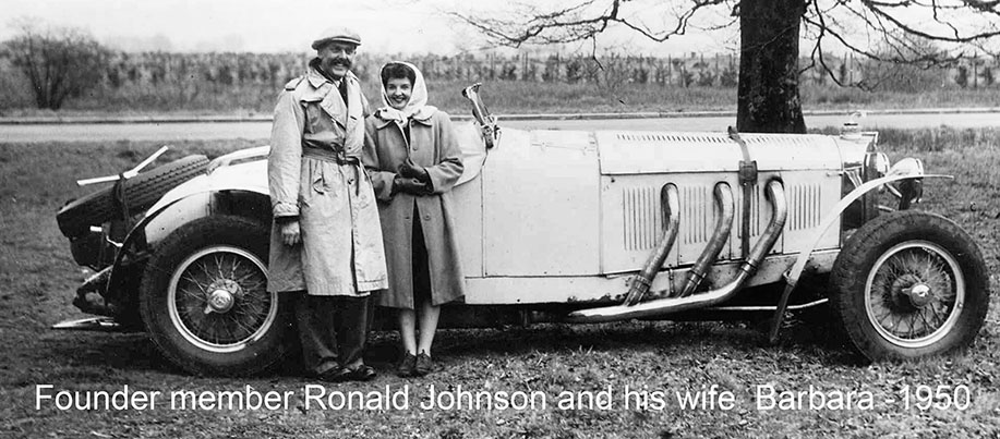 Founder member Ronald Johnson and his wife Barbara - 1950